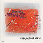 CD cover of A Violin and Piano Recital